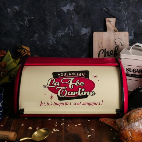 35cm Vintage Brotkasten Brotdose Brotbox aus Eisen Metall Brotbehälter für