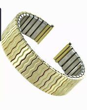 17mm Hirsch Speidel Gold Wavy Link Stainless Steel Twist-O-Flex Men Band 682-614