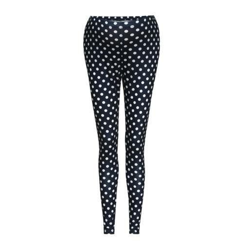 Women/'s Maternity Leggings Seamless Dot Pants Casual Stretch Pregnancy Trousers
