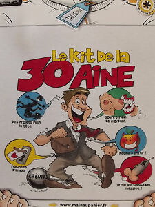 Détails Sur T Shirt Humoristique Humour Kit De La Trentaine Anniversaire 30 Ans