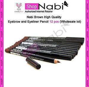Nabi-Brown-High-Quality-Eyebrow-and-Eyeliner-Pencil-12-pcs-Wholesale-lot