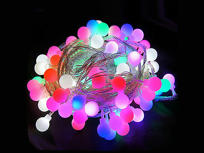 4M 40LED Fairy String Light Battery Operated Ball Christmas Party Wedding Lamp