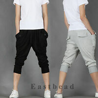 Korean Fashion Mens Sweat Shorts Sport Hip Hop Dance Harem Baggy Pants Trousers
