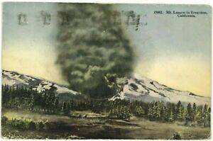 Postcard CA Mount Mt Lassen Peak Volcano In Eruption California 1910's 1920's