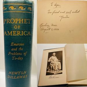 Prophet Of America Emerson The Problems Of Today By Dillaway Signed 1st Ed Ebay