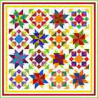 """INTREPID - 88"""" - Quilt-Addicts Pre-cut Patchwork Quilt Kit King size"""