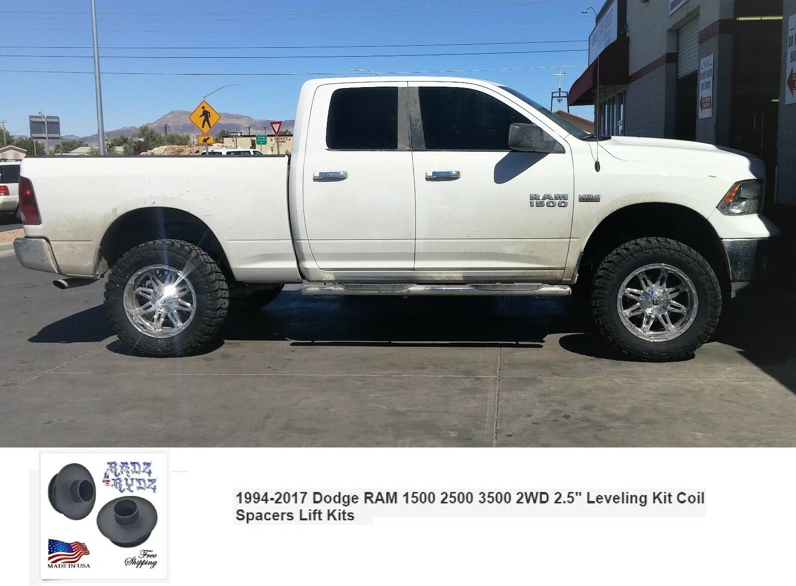 2017 Ram 1500 Leveling Kit >> 1994 2017 Dodge Ram 1500 2500 3500 2wd 2 5 Leveling Kit Coil Spacers Lift Kits