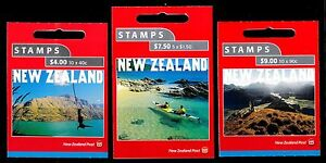 New Zealand 2001 Tourism Set of 3 Mint Booklets