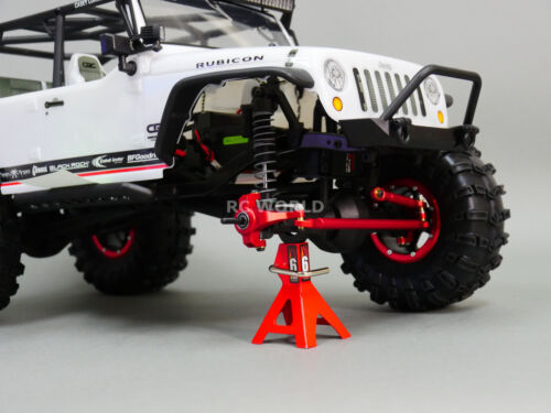 For Axial SCX10 Jeep Honcho UpGraded Front  METAL KNUCKLES STEERING LINK Black