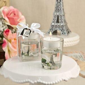 1 eiffel tower candle tea light wedding gel bridal shower gift favor