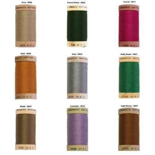 Rosca 100 metros Carrete orgánico scanfil-oferta Carrete 3-100/% algodón orgánico
