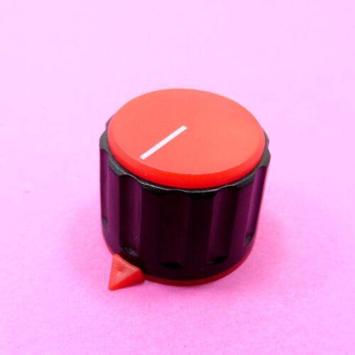 Potenziometro Manopola di controllo del suono 23 x 17.5 mm ROSSI DI PLASTICA ALBERO FILETTATO Cap 6 mm
