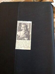 72-7-Ephemera-1956-Picture-Westgate-Linda-Player-Pet-Rabbit-Susie