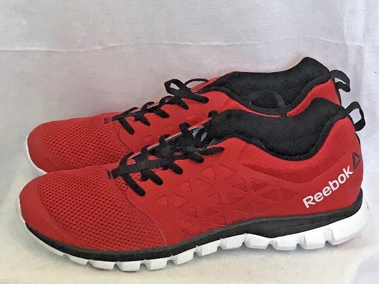 Zapatillas Sublite hombres tren REEBOK Atheletic Zapato Rojo Tamaño 11 Malla de Cuero AR2688