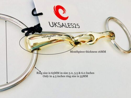 UKSALES25® Horse Bits Loose Ring Snaffle Training Bit Curved MP GS /& SS