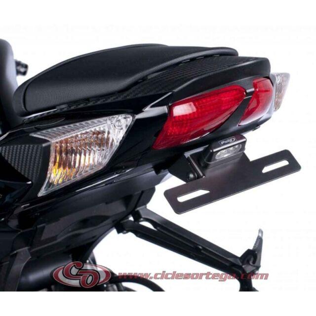 Luz Suzuki GSX-R 600 11-16 Puig negro Portamatriculas