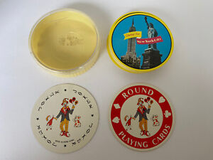 Vintage New York City Round Playing Card Statue of Liberty Empire State