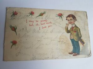 Greeting-Postcard-Vintage-I-Love-you