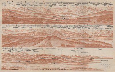 2019 Latest Design Panorama From/vom PfÄnder (1064m). Vorarlberg. Österreich. Pfander 1927 Map Matching In Colour