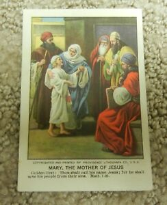 Details About Vintage 1923 Little Bible Lesson Pictures Card Mary The Mother Of Jesus