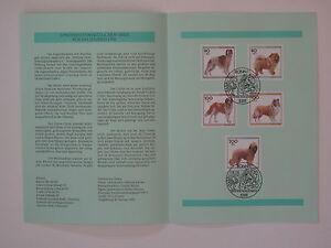 (96j3) Bund Erinnerungsblatt 1996 mit ESST Mi.Nr. 1836-1840 Jugend Hunde