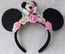 Tokyo Disney Resort Headband Minnie Mouse Black Ears Plush Cosplay Costume Japan