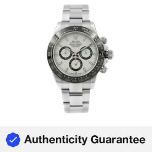 Rolex Daytona White Panda Dial Steel Ceramic Automatic Mens Watch 116500LN w