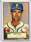 1952 Topps Baseball Card Howie Pollet PittsburghPirates VG Low Number#  63