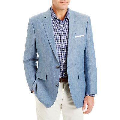 NEW Gazman Linen Sportscoat Blue