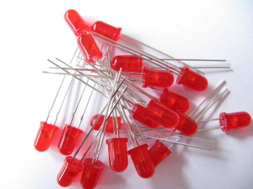 10 PEZZI DIODO LED 5mm-colore a scelta-Giallo//Verde//Rosso//Arancione//Blu