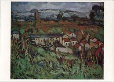 Alte Kunstpostkarte - Maurice de Vlaminck - Das Tal der Seine bei Carrières