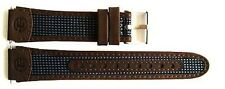 TIMEX 19MM BROWN BLUE LEATHER EXPEDITION CHRONO TIMER WATCH BAND STRAP