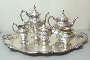 Image Is Loading Gorham Chantilly Ss 6 Pc Sterling Silver Coffee