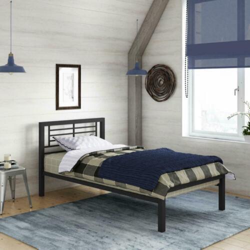Kids/' Metal Platform Bed Frame Home Bedroom Furniture Twin Black Brand New!
