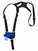 Barsony Black Leather Shoulder Holster Mini/pocket .22 .25 .32 .380 W/ Laser