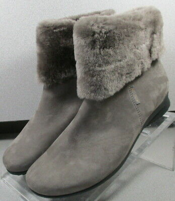 FIDUCIA GRAY LMSPBTS90 Women's Shoes Size 7 EUR 4.5 Leather Zip Boot Mephisto | eBay