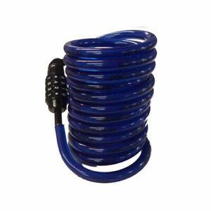 10 Ft (environ 3.05 M) Enroulé Combinaison Câble Avec Qualité En Acier Enduit De Re-programmable & Rangement Facile-afficher Le Titre D'origine