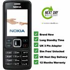 New Condition Nokia Brand 6300 Black Unlocked Camera Bluetooth Mobile Phone