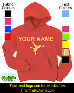 STREET-DANCE-KID-039-S-PERSONALISED-HOODY-HOODIES-GREAT-GIFT-FOR-A-CHILD-amp-NAMED
