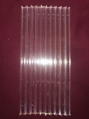"""Clear Extruded Acrylic Plastic Pieces 100"""" Total 10 PACK J-Bar 10"""" Long"""