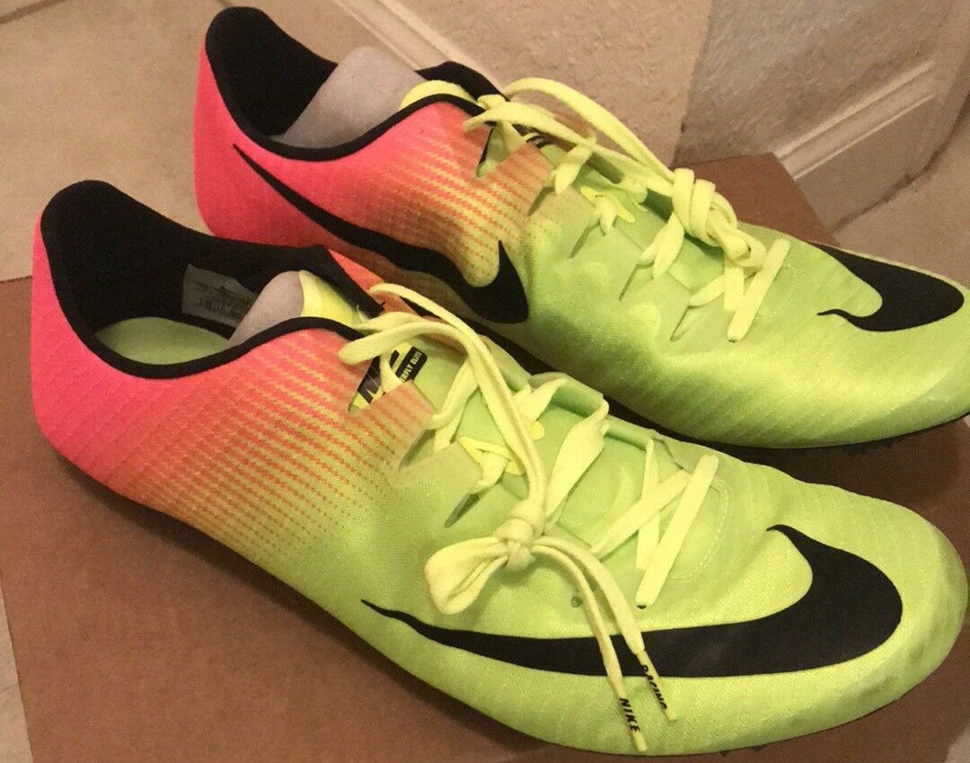 Nike Zoom Superfly Elite Spikes Shoes Volt Pink Men's 15, Size 15, Men's New, RUNNING f397fe