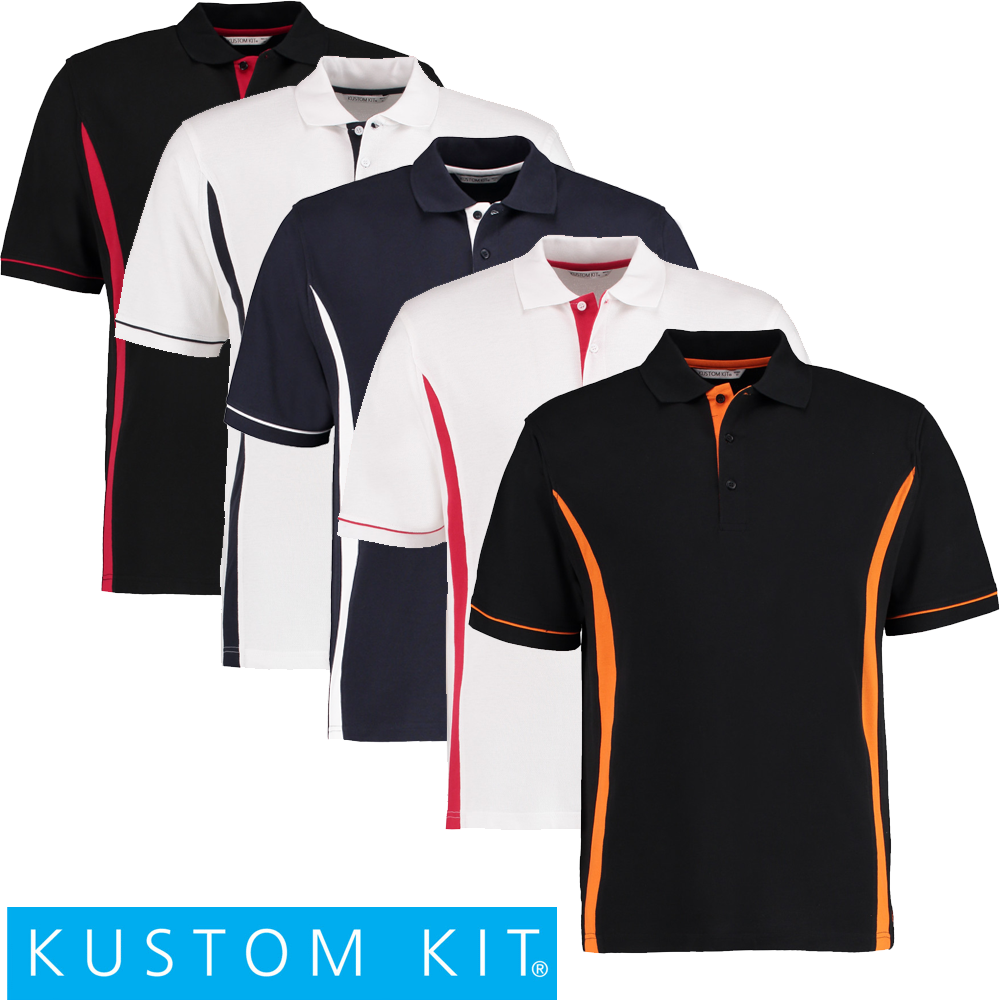 Kustom Kit Scottsdale Polo Shirt-kk617 L White red  7f4764c985d