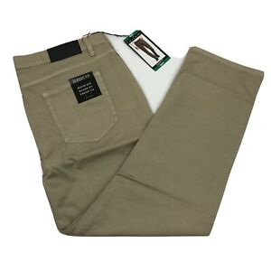 Tahari-Men-039-s-Casual-Pants-Classic-Fit-5-Pocket-Relaxed-Hip-Straight-Fit-Khaki
