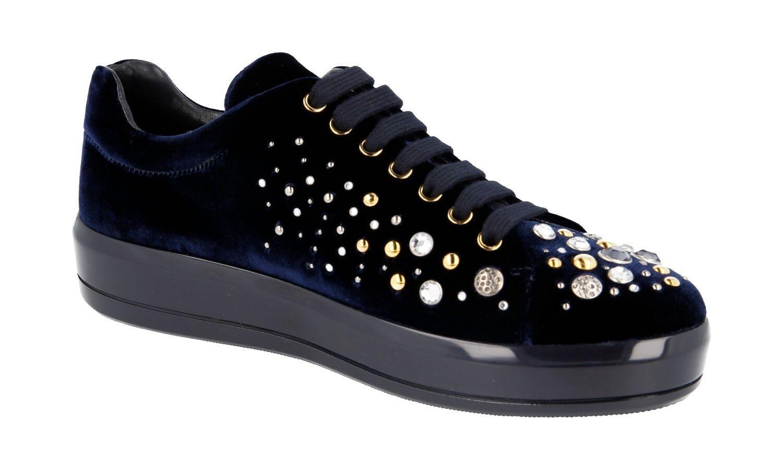 zapatos PRADA PRADA zapatos LUXUEUX 1E971H azul NOUVEAUX 38 38,5 740e7c