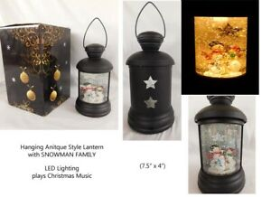 Hanging-Lantern-SNOWGLOBE-with-Snowman-Family-LED-Musical