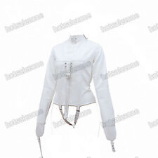 Women's Straitjacket PU Leather Strict Kinky Straight Jacket Kinky White