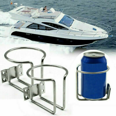 2pcs Stainless Steel Cup Drink Bottle Holder For Car Marine Boat Truck Universal