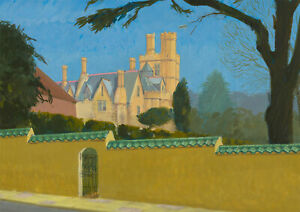 Clifford H. Thompson (1926-2017) - 20th Century Acrylic, Hidden Manor House