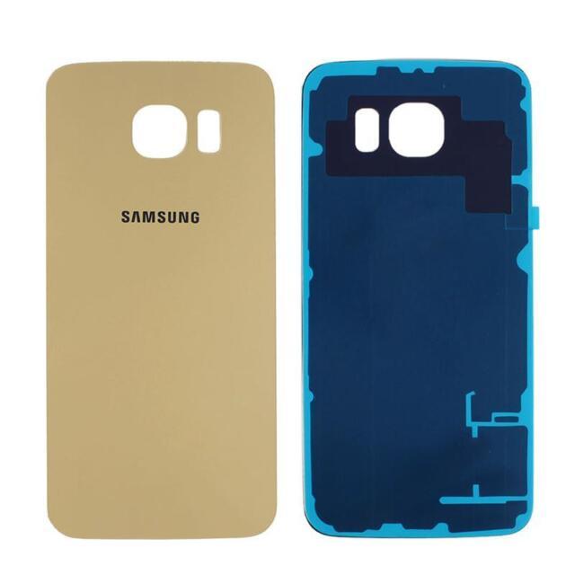 Vidrio Puerta Trasera Batería Trasera Cubierta Estuche para Samsung Galaxy S6 Edge ER15