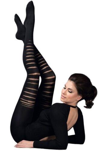Gabriella Axel 80 Denier Patterned Opaque Black Tights 3D Technology Size S M L